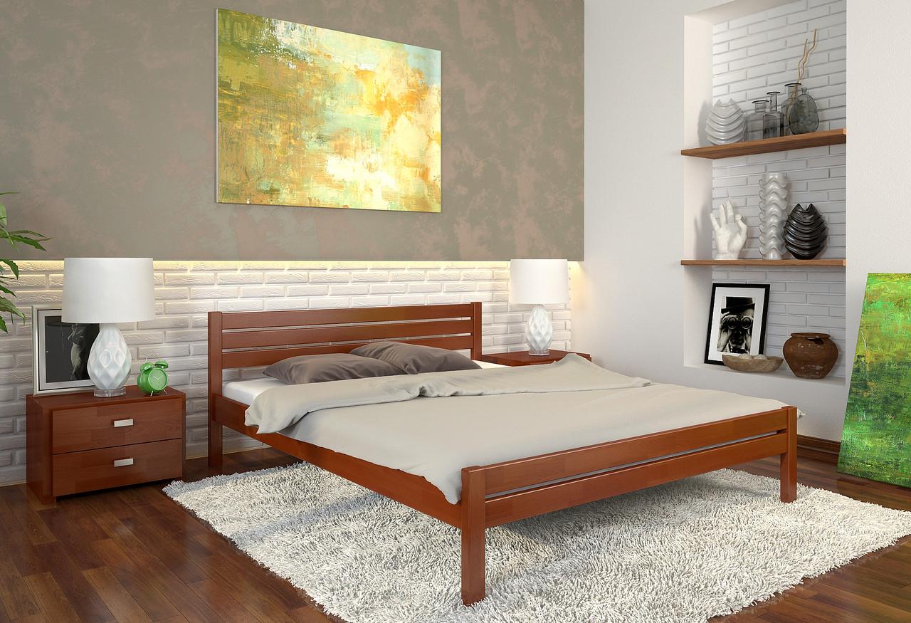 """Деревянная двуспальная кровать """"Классик"""" от производителя"""