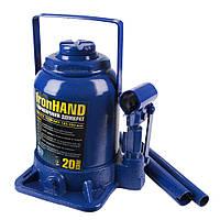 Домкрат гидравлический бутылочный, 20 тонн, 185-350мм, картонная коробка - VITOL