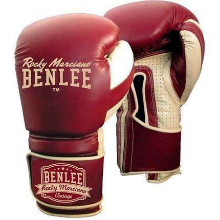 Боксерские перчатки BENLEE Graziano (199104/2025) Бордовый, фото 2