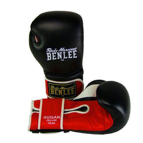 Боксерские перчатки BENLEE Sugar Deluxe (194022/1503) Черный/Красный