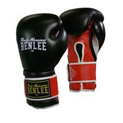 Боксерские перчатки BENLEE Sugar Deluxe (194022/1503) Черный/Красный, фото 2