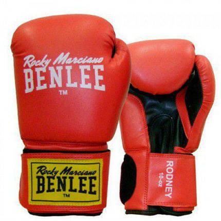 Боксерские перчатки BENLEE Rodney (194007/2514) Красный/Черный, фото 2