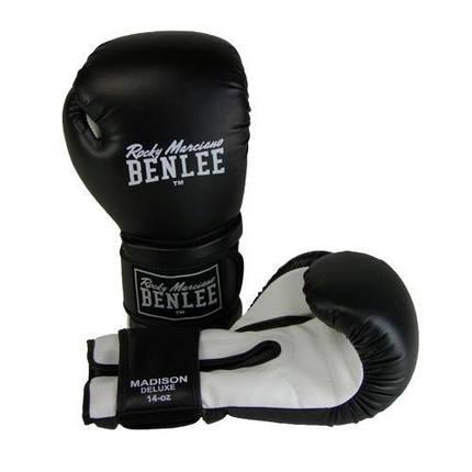 Боксерские перчатки BENLEE Madison Deluxe (194021/1500) Черный/Белый, фото 2