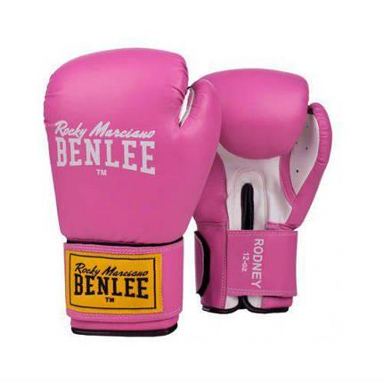 Боксерские перчатки BENLEE Rodney (194007/7537) Розовый/Белый, фото 2