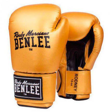 Боксерские перчатки BENLEE Rodney (194007/6010) Золотой/Черный, фото 2