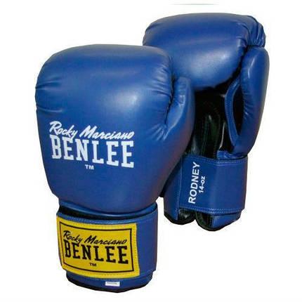 Боксерские перчатки BENLEE Rodney (194007/3618) Синий/Черный, фото 2