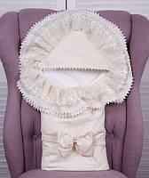 Летний нарядный конверт-одеяло Волшебство молочный, фото 1