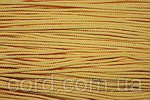 Шнур круглый 2мм 100м желтый