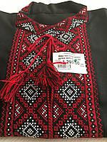 Чорна вишиванка з червоно білим орнаментом ручної роботи розмір 50-52