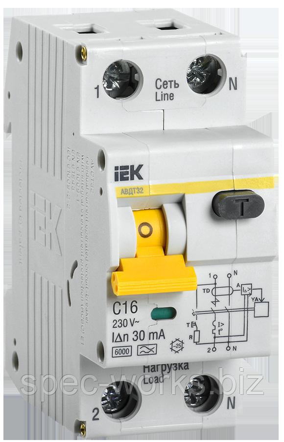 Автоматичний вимикач диференціального струму АВДТ32 C16 30мА