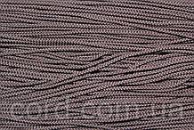 Шнур круглый 2мм 100м т. коричневый