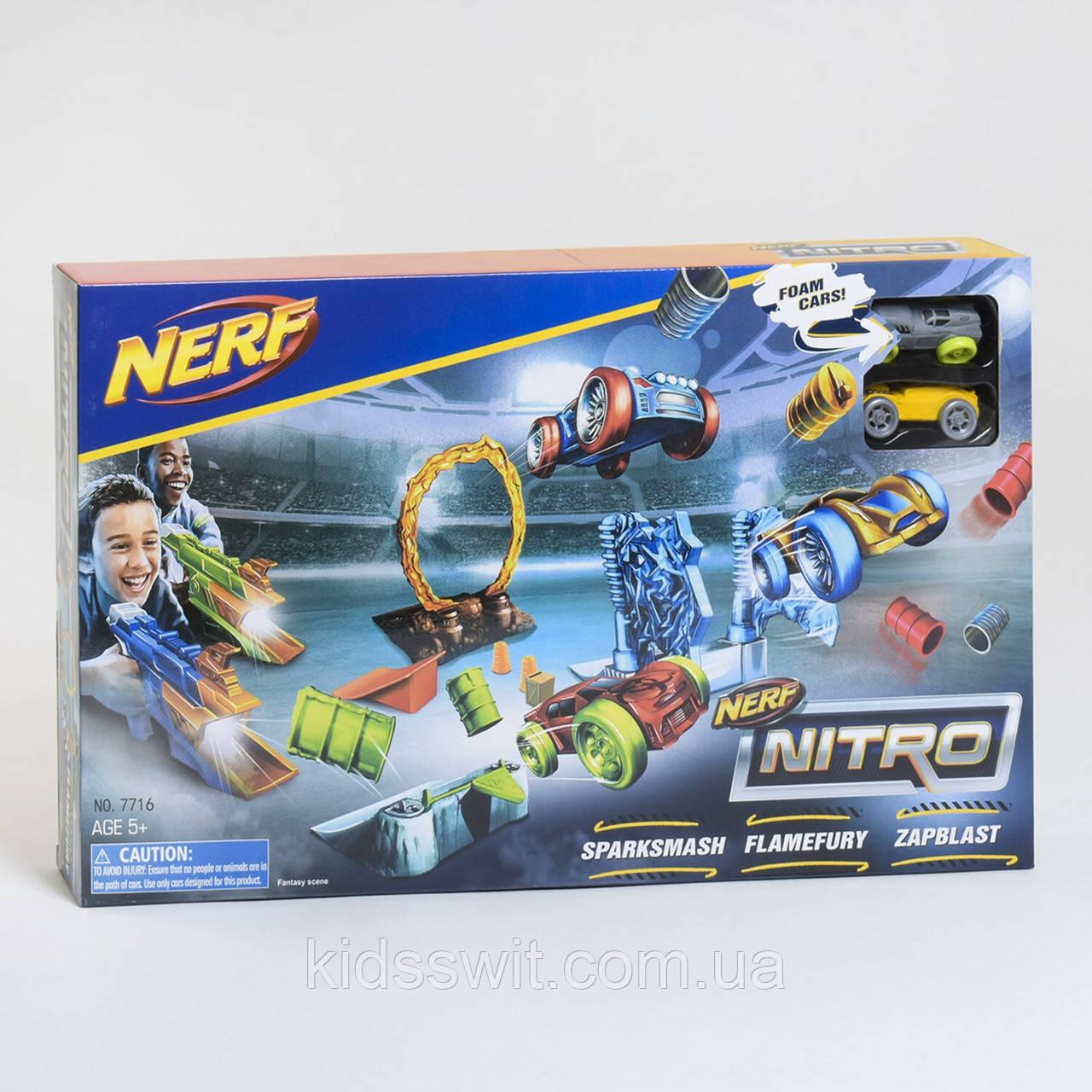 Трек-Пистолет Нитро на 2 машинки, 7716