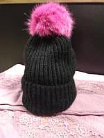 Шапка женскаяс розовым бубономZARA