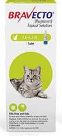Капли Bravecto (от блох и клещей на 12 недель) для котов весом 1.2-2.8кг