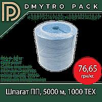 Шпагат 5000 м синий, 1000ТЕХ, подвязочный полипропиленовый вторичный