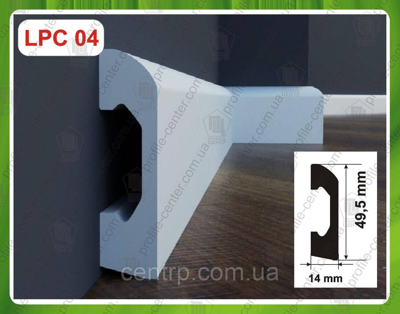 Плинтус 49,5 мм напольный из дюрополимера LPC-04 Cezar Elegance