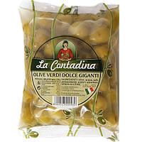 Оливки зеленые без косточки 500г La Contadina М / В (1/10)