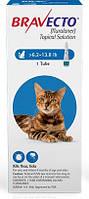 Капли Bravecto (от блох и клещей на 12 недель) для котов весом 2.8-6.25кг