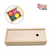 Пенал для гуаши деревянный ROSA Studio, 24,3х9,5х5,3 см (GPТ50083142)