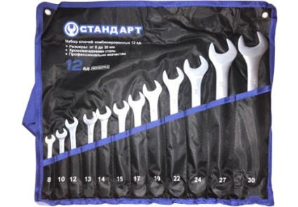Набор ключей комбинированных 12 ед. (8,10,12-15,17,19,22,24,27,30) в сумке СТАНДАРТ NKK12STA-S