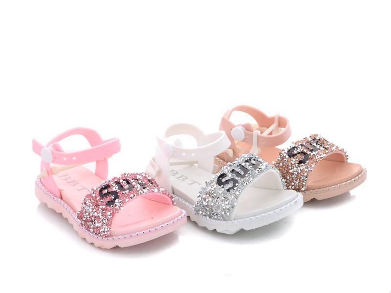 Босоножки для девочки силикон  белый и розовый цвета размеры 24-29 Киев