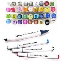 Скетч маркеры SketchMarker двусторонние для бумаги набор 36 шт PM508-36