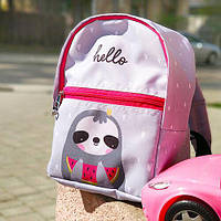Рюкзак детский Light Hello ленивец 22х28х12 см (RDL_20A009_ROZ)