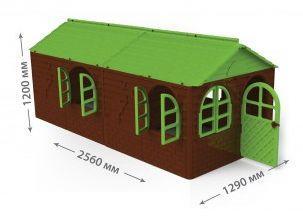 Будиночок великий зі шторками Doloni коричневий (02550)