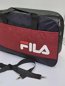 Стильная дорожная текстильная сумка 47х34х20 см