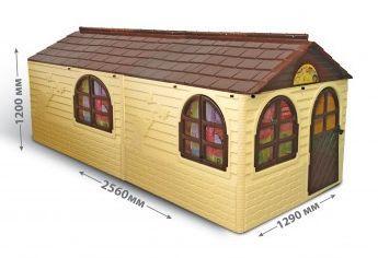 Будиночок великий зі шторками Doloni великий бежевий (02550/22)