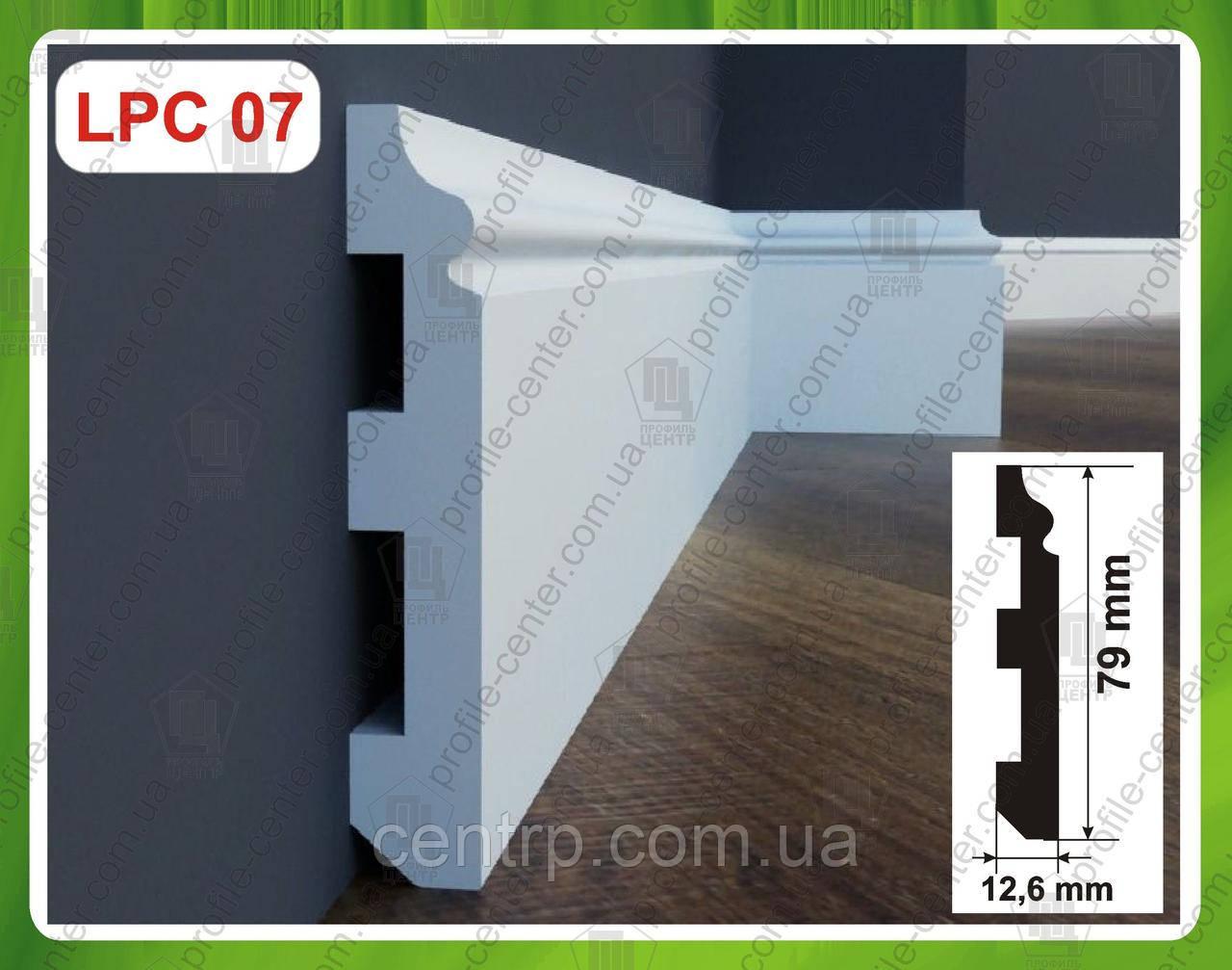 Плинтус 79 мм напольный из дюрополимера LPC-07 Cezar Elegance