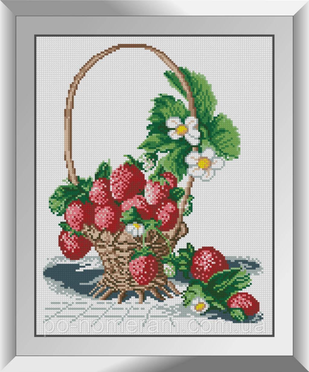 Алмазная живопись Dream Art Корзина с клубникой (DA-31372) 31 x 39 см
