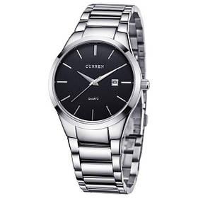 Мужские часы Curren 8106 кварцевые Silver/Black (3117-12639)