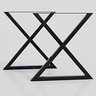 """Черные металлические опоры """"Onix"""" для стола ножки для стола в кафе или ресторан"""