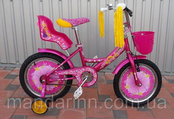 Велосипед детский Azimut Girls 18 дюймов Розовый