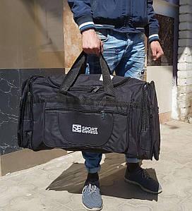 Черная большая дорожная сумка 70х30х37 см
