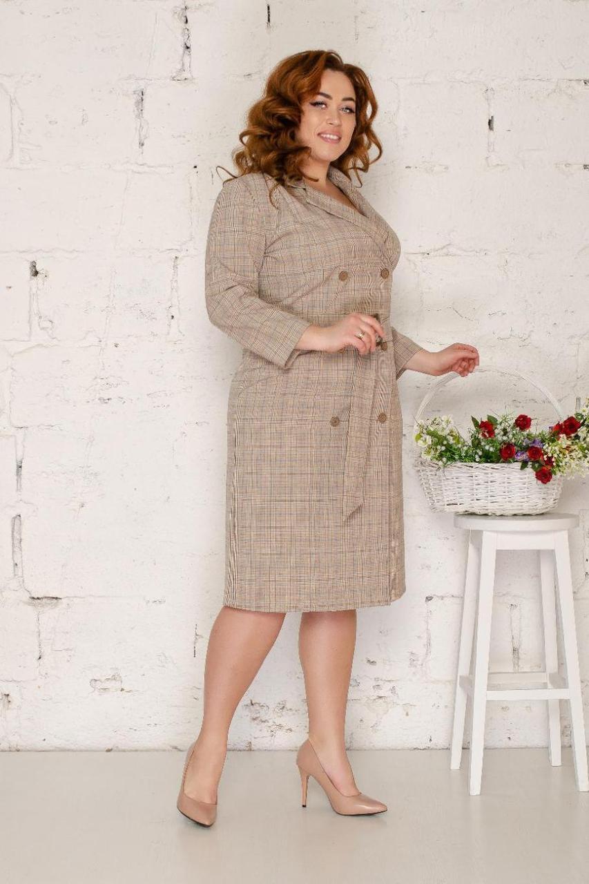 Платье-пиджак двубортное 50-56 р