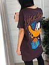 Футболка oversize оверсайз с мультяшным принтом Daffy Duck, фото 6