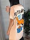 Футболка oversize оверсайз с мультяшным принтом Daffy Duck, фото 7