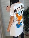 Футболка oversize оверсайз с мультяшным принтом Daffy Duck, фото 8