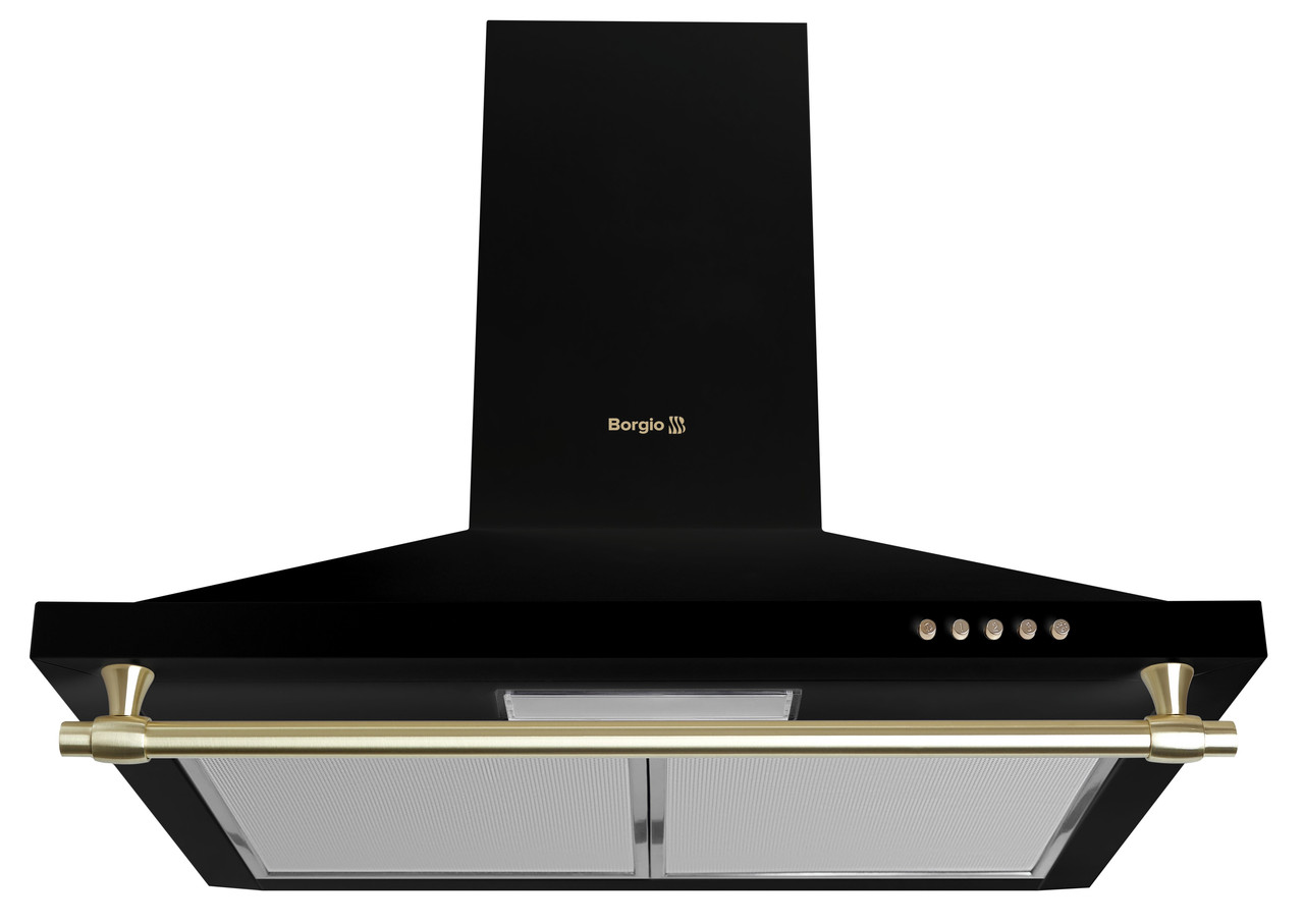Кухонна витяжка купольна чорна BORGIO BKS (TR) 60 Black Rustic