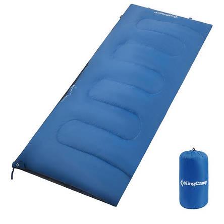 Спальник одеяло летний KingCamp Oxygen (KS3122) (dark blue левая), фото 2