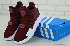 Мужские кроссовки Adidas EQT Support Bordo (Адидас Саппорт) бордового цвета