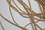 Шнур круглый 2,5 мм 100м белый + люрекс золото, фото 2