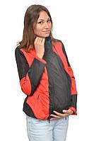 Легкая универсальная куртка-ветровка для беременных/слингокуртка 3 в 1, черный/красный, Katinka (S)