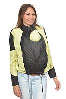 Легкая универсальная куртка-ветровка для беременных/слингокуртка 3 в 1, черный/лимонный, Katinka (S)