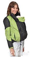 Легкая универсальная куртка-ветровка для беременных/слингокуртка 3 в 1, черный/олива, Katinka