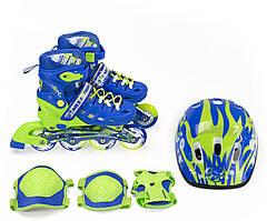 Роликовые коньки Nils Extreme NA1015A Set Size 35-38 Blue