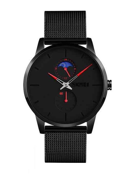 Skmei 9208 с красными стрелками мужские классические часы