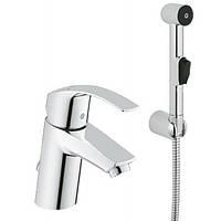Смеситель для раковины с гигиеническим душем Grohe Eurosmart 23124002